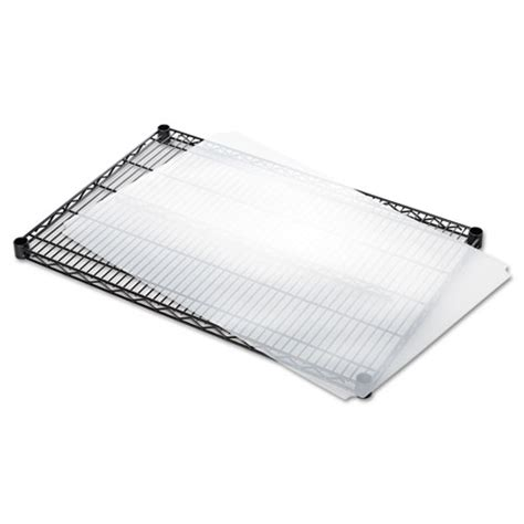 shelf liners for wire shelving clear plastic 36w x 24d