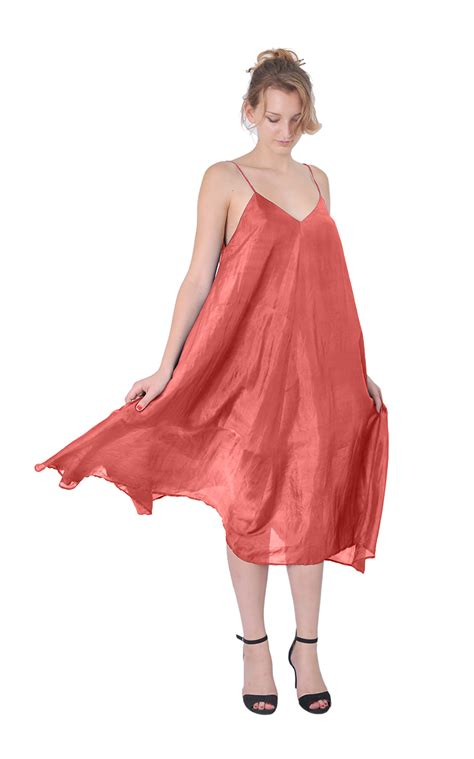womens 100 silk boho hippie tent maxi dress mid calf a1096 ebay