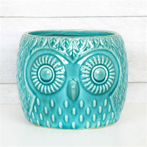 Ceramic Planter Pot by Ceramic Owl House Plant Pot Planter Two Sizes By
