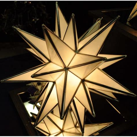 lighted moravian star light with 26 points