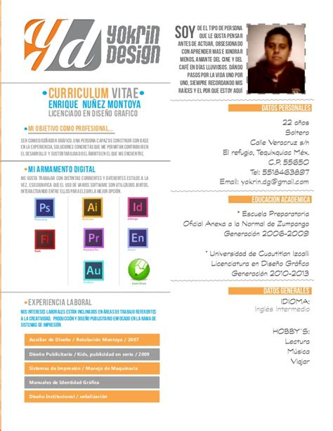 Plantillas De Curriculum Vitae Diseño Grafico Yokrin Design Portafolio Profesional