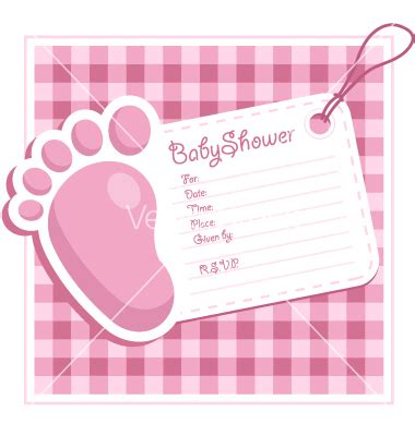 Free Baby Shower Card Template by