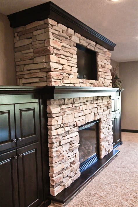 stone around fireplace wood mantle stone fireplace built ins around fireplace