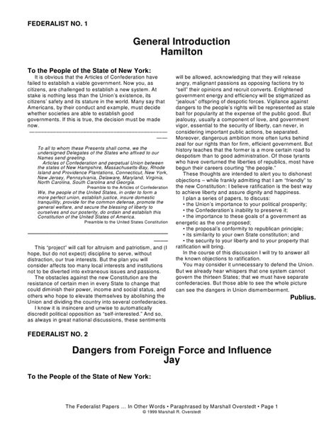 Federalism Essay by College Essays College Application Essays Federalist Papers 1 Pdf