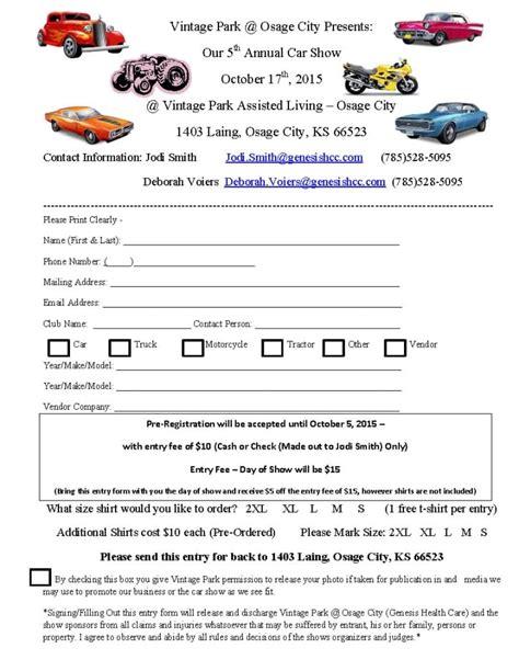 Car Show Registration Form Templates Find Word Templates Car Registration Template