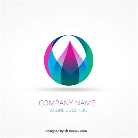 edit name logo abstract colorful logotype vector free