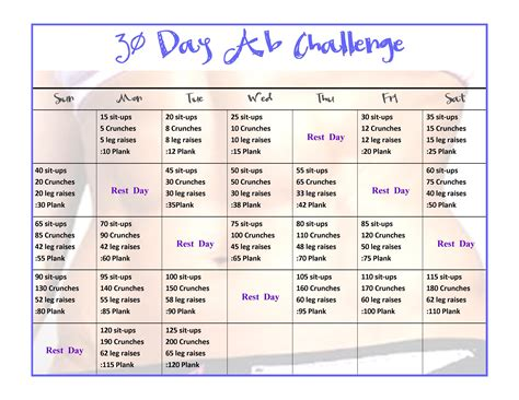 30 day mega squat ab arm challenge happy fit from within