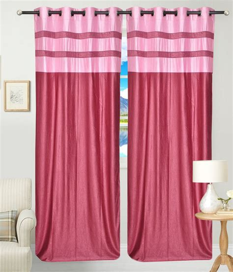 pink long curtains fresh from loom pink polyester long door curtain buy