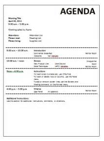 meeting agenda template word documents