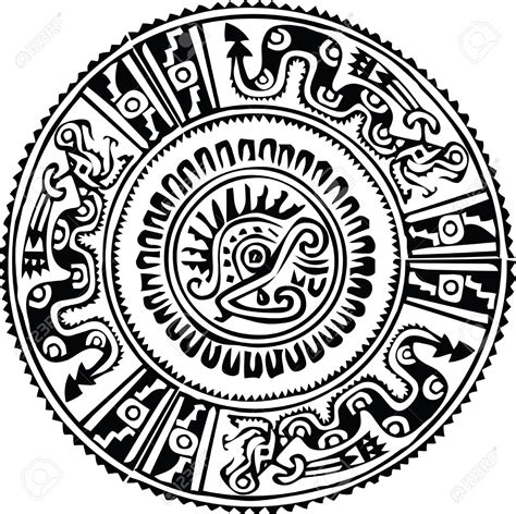 black and white round pattern 10892415 ancient pattern vector illustration stock vector