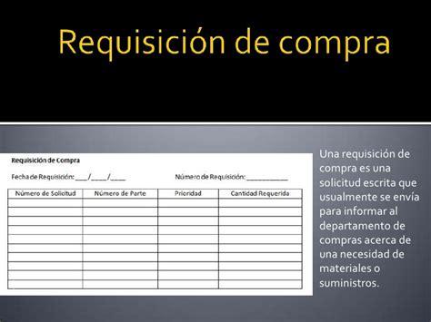 departamento de compra formatos de requisici 243 n y orden de requisicion de compra practica de los formularios