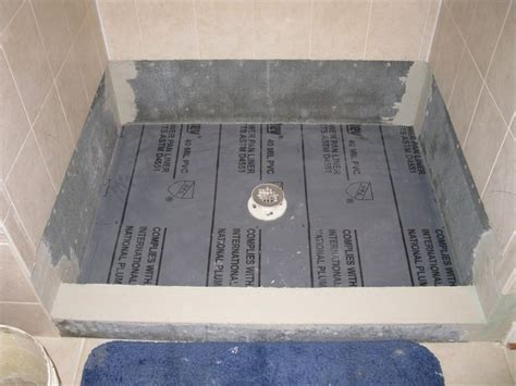 how to install a shower pan liner membrane shower floor
