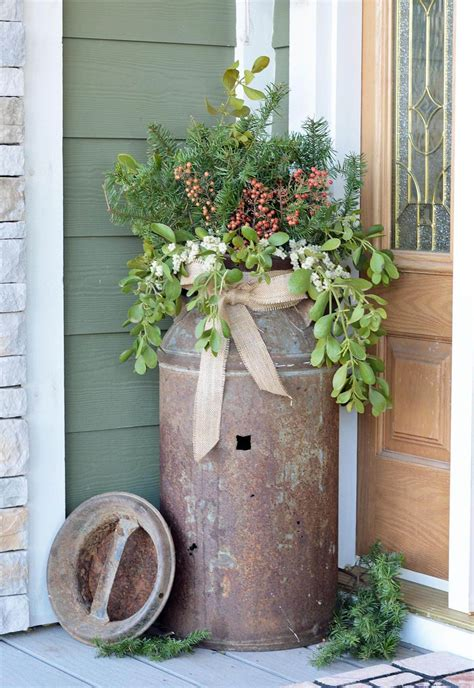Milk Can Planter by 29 Best Front Door Flower Pots Ideas And Designs For 2018