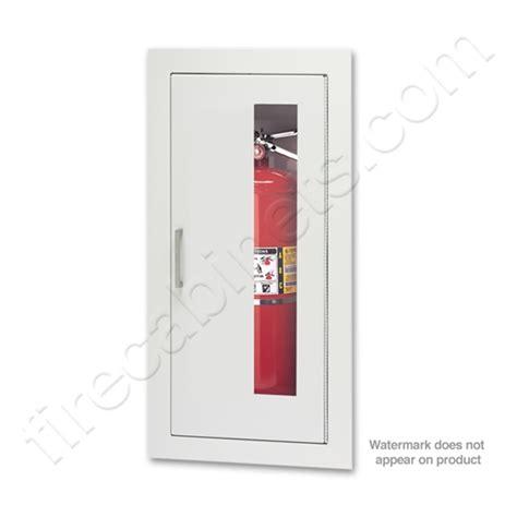 larsen s semi recessed 2 1 2 extinguisher cabinet
