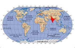 India In Map Of The World by Geographic Location Pgims Rohtak India