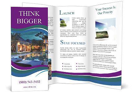 brochure template resort luxury resort brochure template design id 0000004937