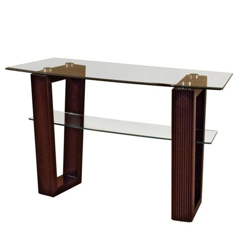 glass top sofa table magnussen cordoba rectangular sofa table with glass top