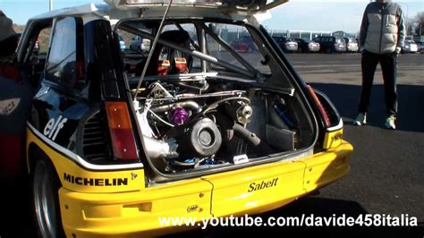renault 5 maxi turbo renault 5 maxi turbo pure sound start up revs and track