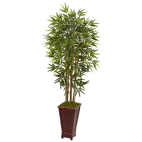 nearly natural indoor kentia palm artificial tree in white