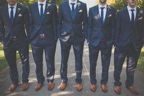 navy blue suits are a fantastic choice for the groom and