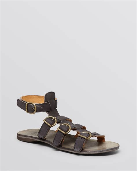 bakers sandals lyst fiorentini baker flat gladiator sandals thea in gray