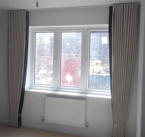 94 Curtains And Drapes Full Length Curtains With Leading Edge Banding Window