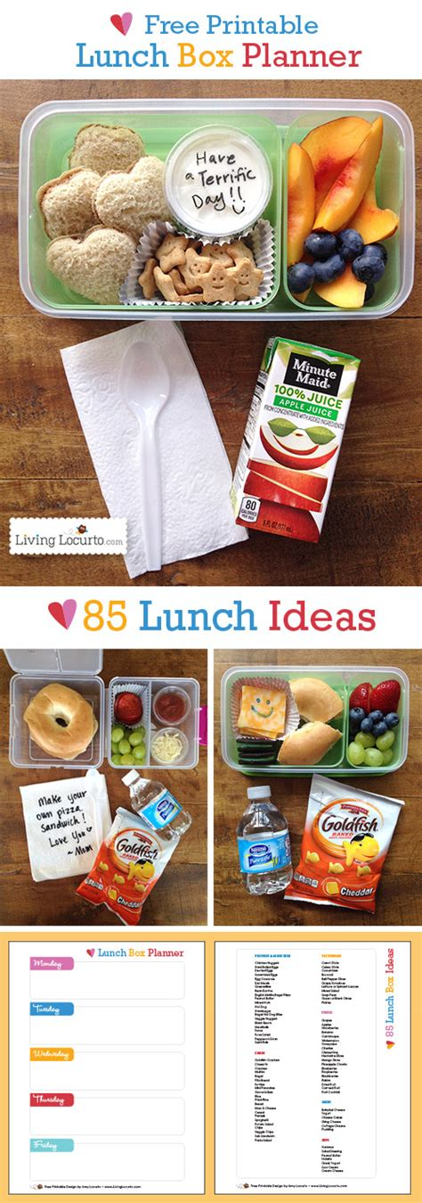 back to school lunch box planner organized 31 free printable school lunch box planner