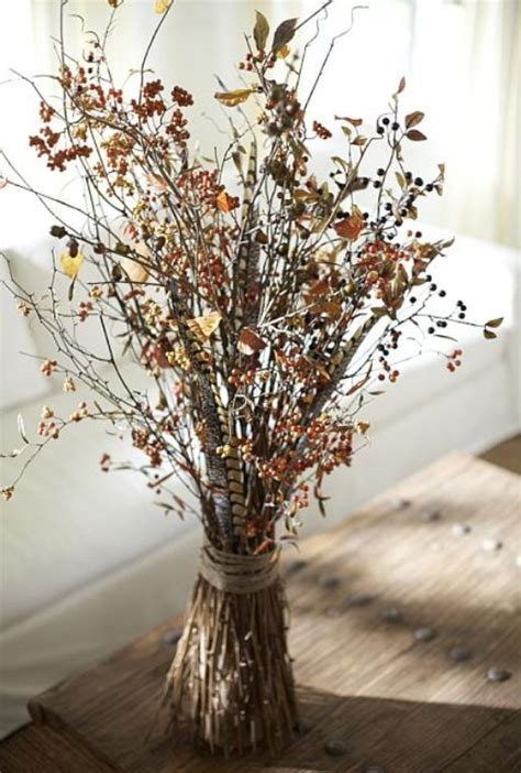 Vase Arrangements Branches by 35 Harvest Decoration Ideas For Thanksgiving Digsdigs