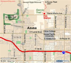 azusa california map dan s hiking pages garcia trail simpsoncity