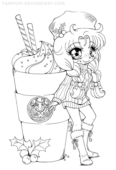 chibi lollipop girl coloring page free printable yambucks chibi lineart coloring contest by yampuff on