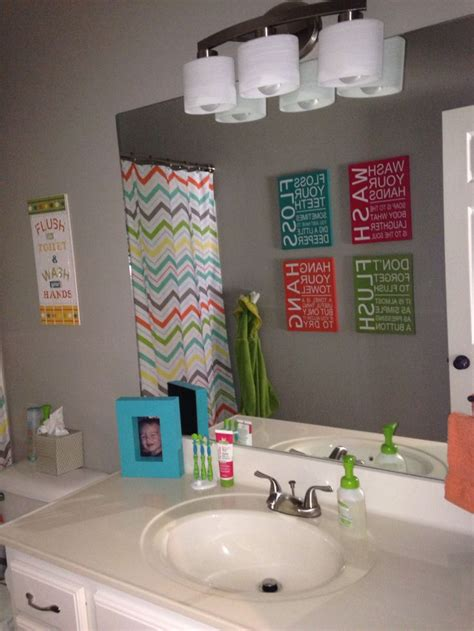 Unisex Kids Bathroom Ideas | 1000 images about b and c bathroom on pinterest