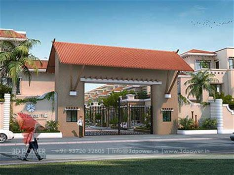 Home Front Design Kerala Style gallery 3d architectural rendering services 3d
