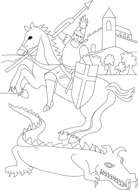 st coloring pages free st george coloring page