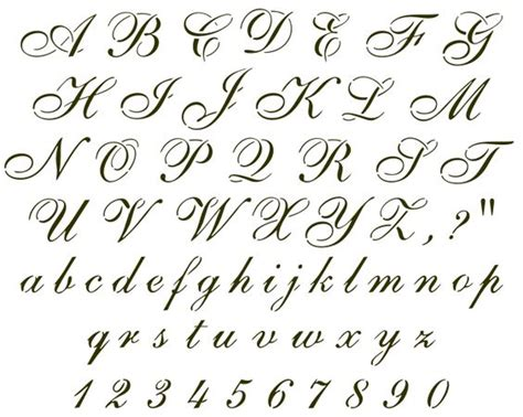 calligraphy designs templates cursive letter stencils answers individual stencil