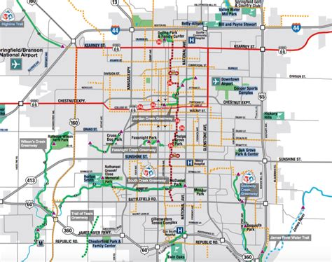 missouri bicycle map springfield mo