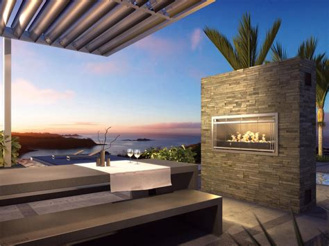Outdoor Fireplace Modern by Modern Patio With Outdoor Fireplace Photos Diy