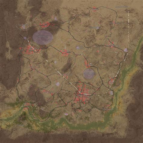 pubg map playerunknown s battlegrounds desert map layout datamined