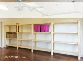 ana white easy economical garage shelving from 2x4s