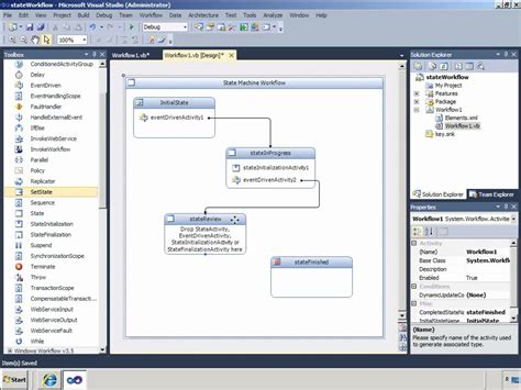 sequential workflow in sharepoint 2010 visual studio exles sharepoint creating sharepoint 2010 state machine
