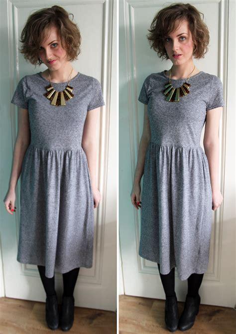 Get The Look Judds Jersey Dress by J Topshop Jersey Midi Dress Wallis Necklace