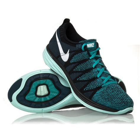 nike black and blue running shoes nike flyknit lunar2 mens running shoes black turquoise