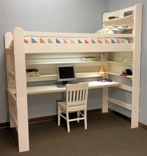 white loft bed with desk underneath best 25 bed with desk underneath ideas on bunk bed with desk bunk bed desk and