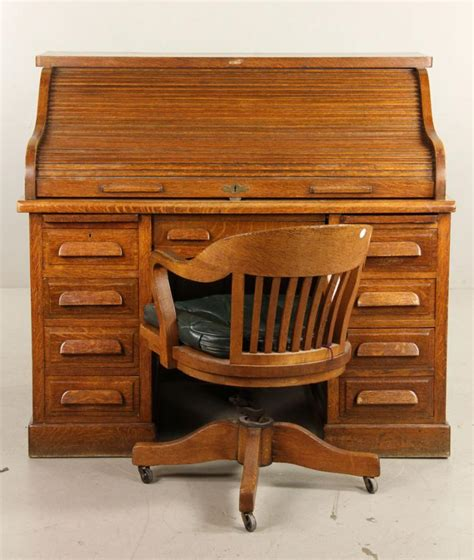 mark wayne roll top desk antique golden oak office desk and chair