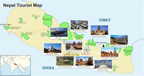 map of tourist nepal tourist map nepal travel map map of nepal attractions