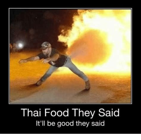Thai Food Meme - thai food they said it ll be good they said meme on sizzle