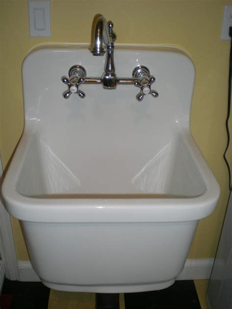 Kohler Sudbury Vintage Style Deep Sink Traditional Laundry Room Sink Faucet