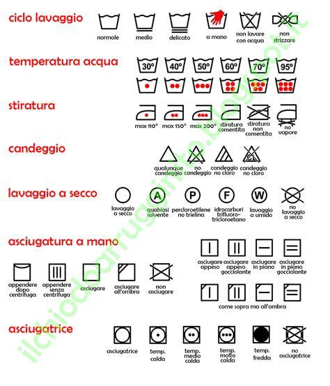 Simboli Capi Da Lavare by Etichette E Simboli Per Lavaggio Asciugatura Stiratura E