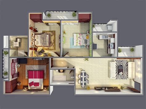 three bedroom 50 three 3 bedroom apartment house plans architecture