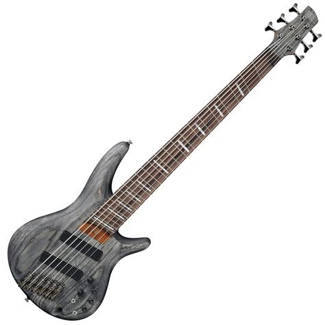 Ibanez Srff806 Fanned Fret 6 String Bass Black Stain At