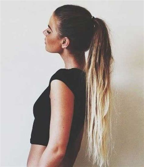 ombre ponytail technique 35 long ombre hairstyles